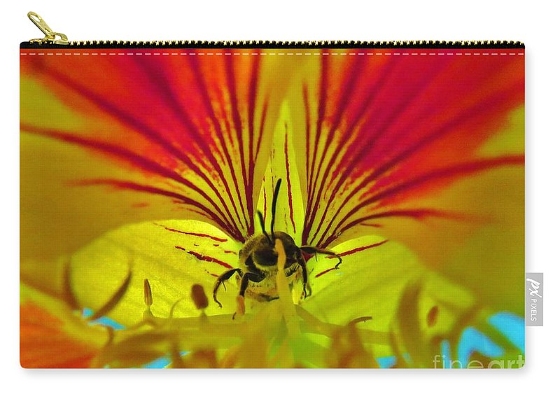 Flower Carry-all Pouch featuring the photograph Make Your Own Wings And Fly Away by Mel Manning