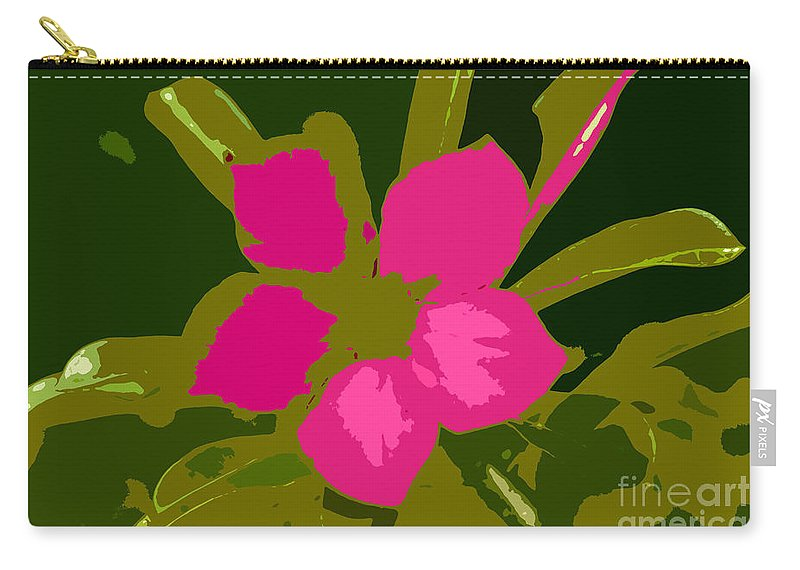 Flower Carry-all Pouch featuring the photograph Flower Work Number 17 by David Lee Thompson