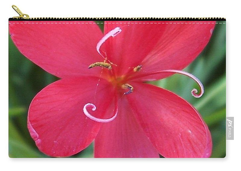 Pink Carry-all Pouch featuring the photograph Flower2 by Angela Hansen