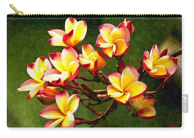 Branch Carry-all Pouch featuring the digital art Flowerage by Max Steinwald
