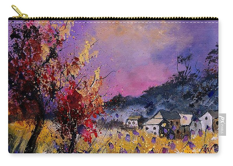 Carry-all Pouch featuring the painting Flowered Landscape 569070 by Pol Ledent