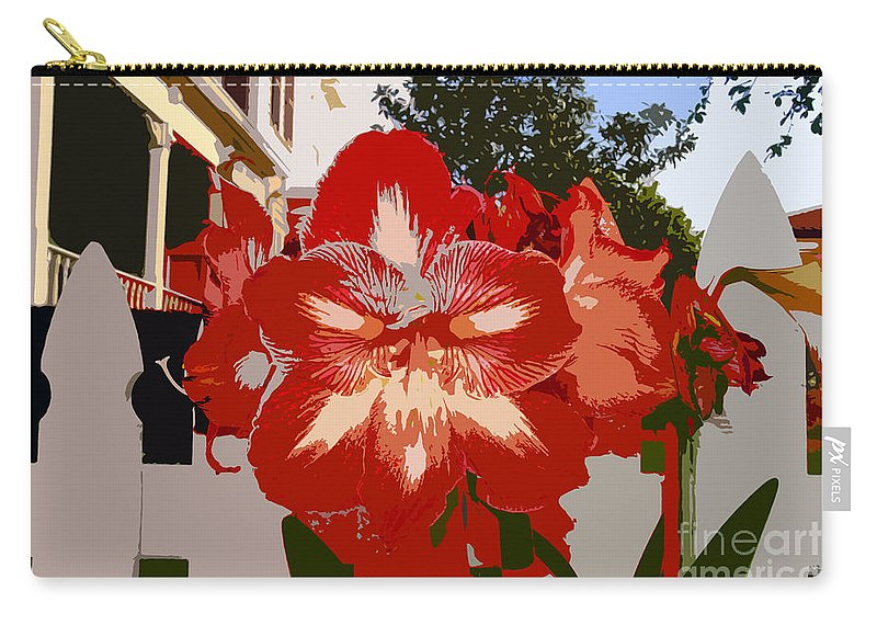 Flower Carry-all Pouch featuring the photograph Flowering Backyard Work Number 33 by David Lee Thompson