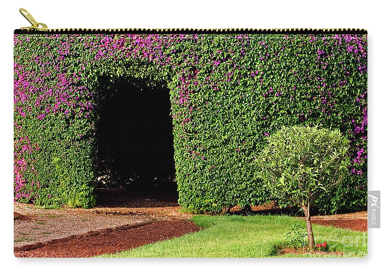 Psi Carry-all Pouch featuring the photograph Flowering Garden by Ofer Zilberstein
