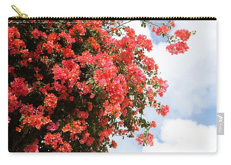 Hawaii Carry-all Pouch featuring the photograph Flowering Tree by Nadine Rippelmeyer