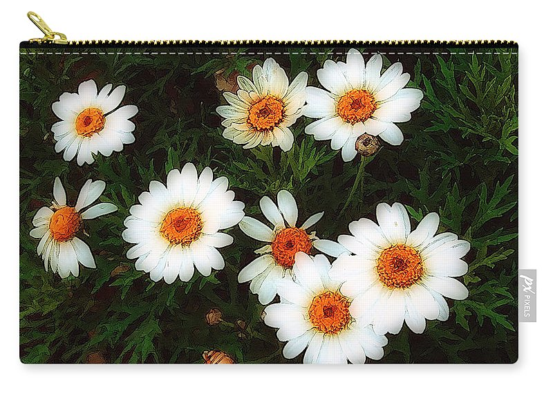 Bush Carry-all Pouch featuring the painting Flowering Yew by RC DeWinter