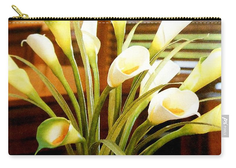 Flowers Carry-all Pouch featuring the photograph Flowers 5 by Lord Frederick Lyle Morris - Disabled Veteran