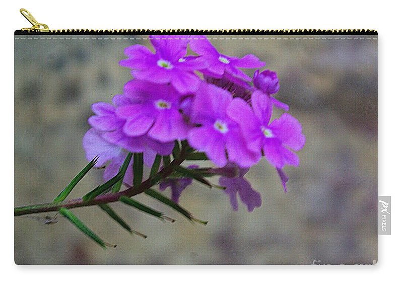Flora Carry-all Pouch featuring the photograph Flowers Against The Wall by John S