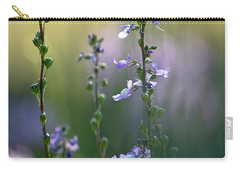 Nature Carry-all Pouch featuring the photograph Flowers By The Pond by Robert Meanor