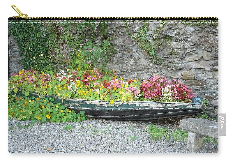 Inistioge Carry-all Pouch featuring the photograph Flowers Floating by Kelly Mezzapelle