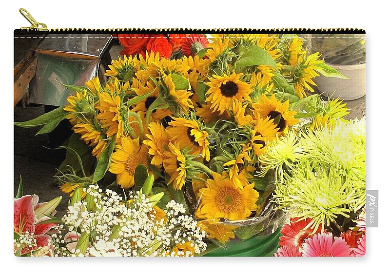 Flowers Carry-all Pouch featuring the photograph Flowers For Sale by Ian MacDonald