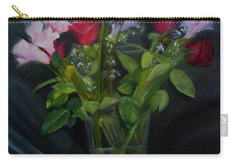 Flowers Carry-all Pouch featuring the painting Flowers For Sarah by Sheila Mashaw