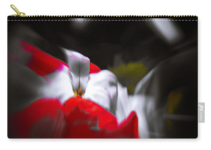 Abstract Carry-all Pouch featuring the photograph Flowers In Abstract by Scott Wyatt