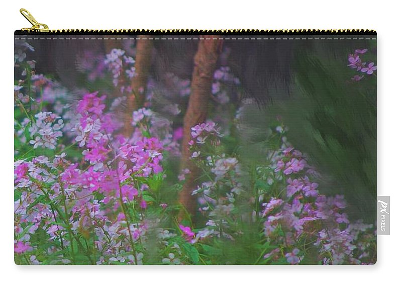 Landscape Carry-all Pouch featuring the painting Flowers In The Woods by David Lane