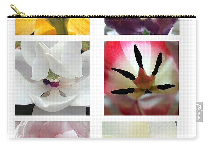 Flowers Carry-all Pouch featuring the photograph Flowers In The Yard by Robert Meanor