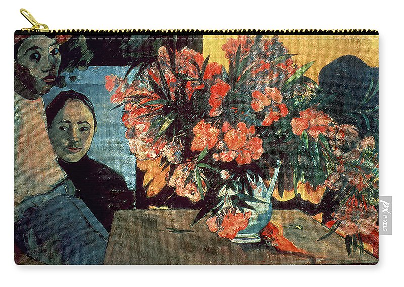 Te Tiare Farani (flowers Of France) Carry-all Pouch featuring the painting Flowers Of France by Paul Gauguin