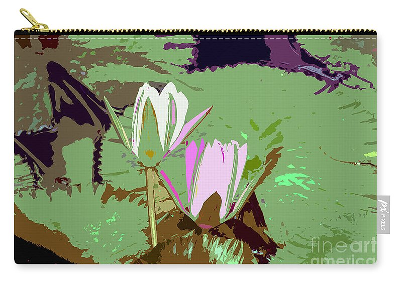 Flowers Carry-all Pouch featuring the photograph Flowers Work Number 3 by David Lee Thompson
