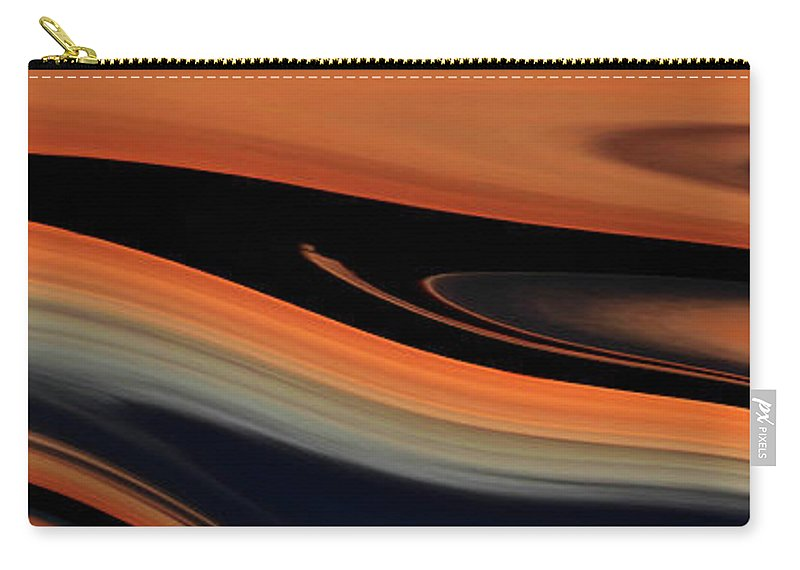 Amber Carry-all Pouch featuring the photograph Flowing Amber by Whispering Peaks Photography