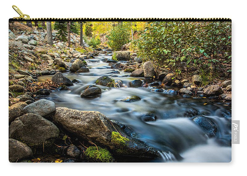 Creek Carry-all Pouch featuring the photograph Flowing Creek by Maria Coulson