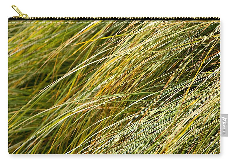 Abstract Carry-all Pouch featuring the photograph Flowing Green Grass Abstract by James BO Insogna