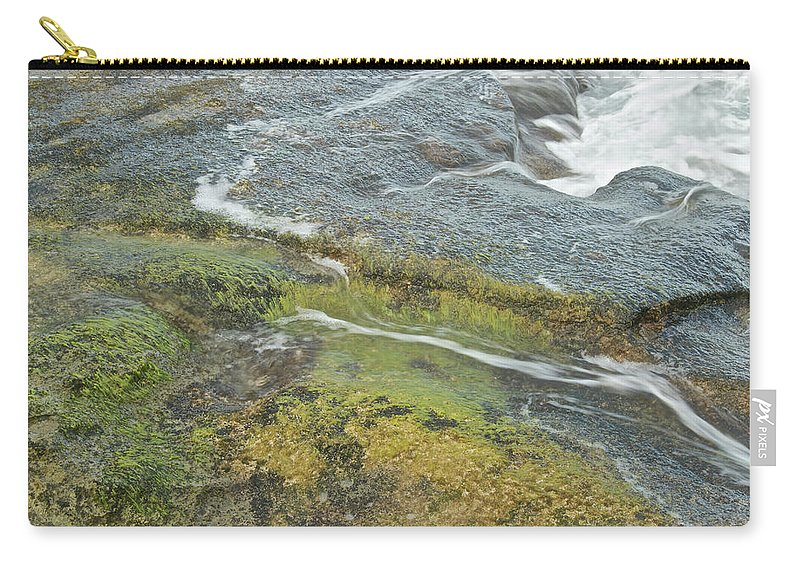 Water Carry-all Pouch featuring the photograph Flowing Water by Michael Peychich