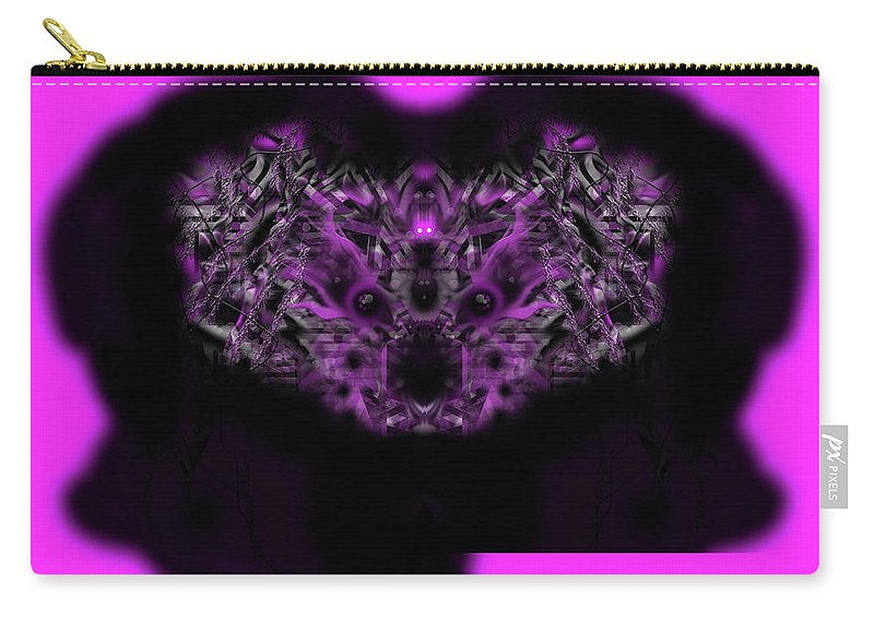 Carry-all Pouch featuring the digital art Fluffy by Subbora Jackson