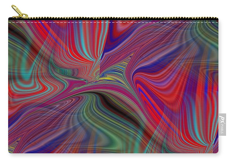 Fluid Carry-all Pouch featuring the digital art Fluid Motion 6 by Tim Allen