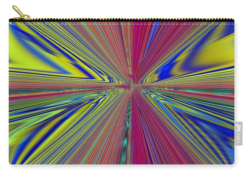 Abstract Carry-all Pouch featuring the digital art Fluid Motion by Tim Allen