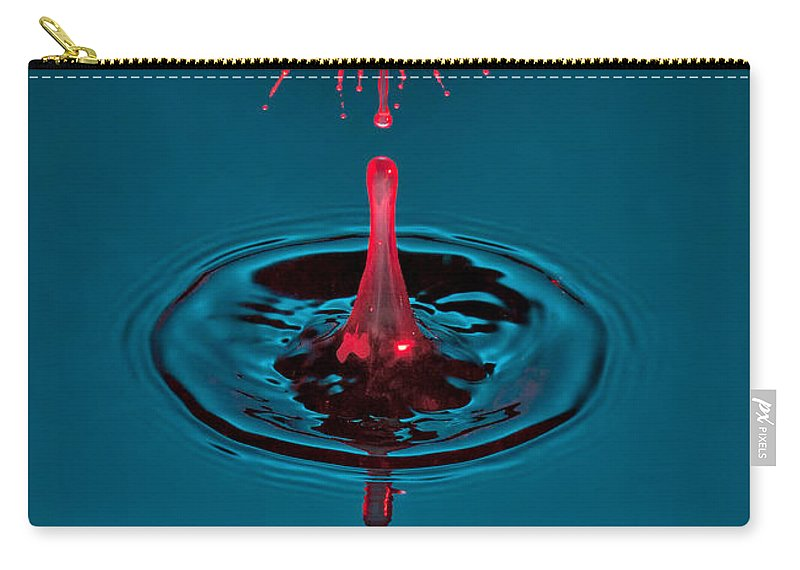 Water Drop Collision Carry-all Pouch featuring the photograph Fluid Parasol by Susan Candelario