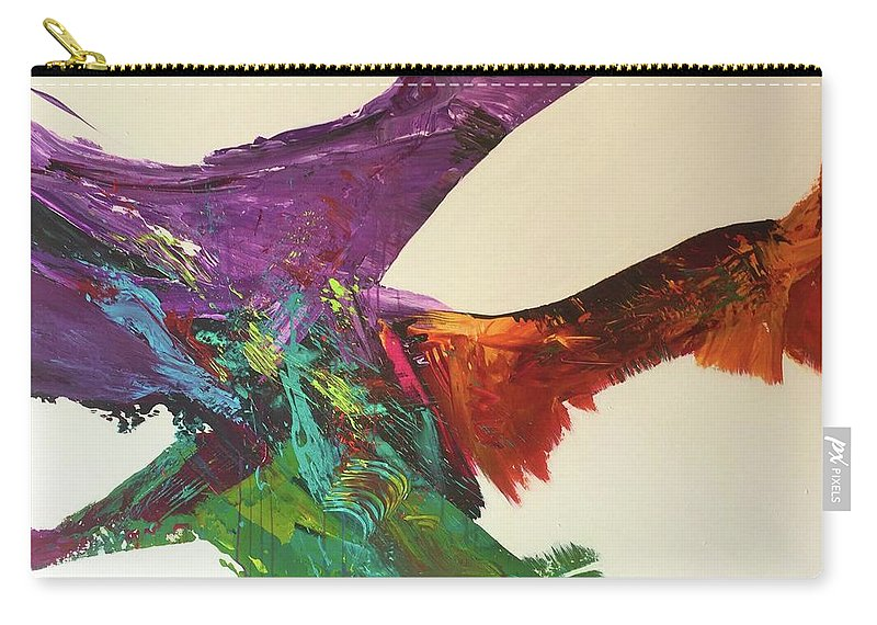 Fluid Abstract Painting John Cammarano Carry-all Pouch featuring the painting Fluid#1.2 by John Cammarano