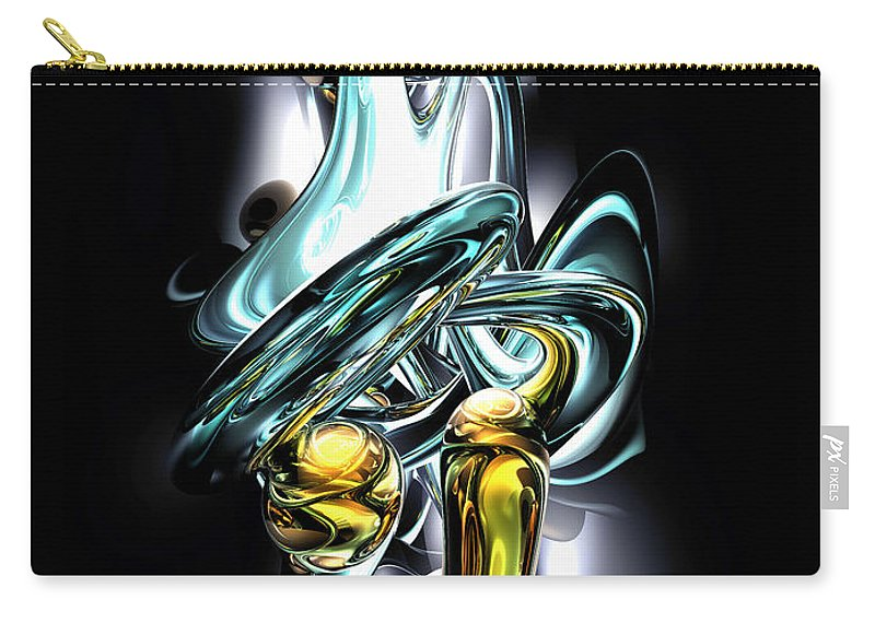 3d Carry-all Pouch featuring the digital art Fluidity Abstract by Alexander Butler