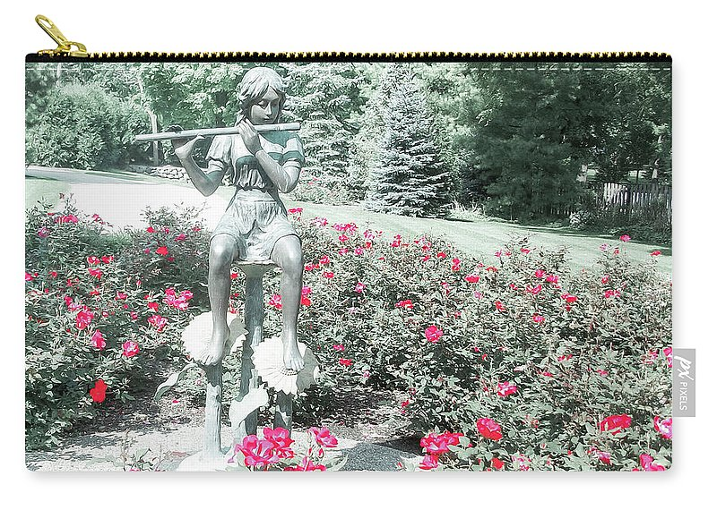 Flute Player Carry-all Pouch featuring the photograph Flute Player by Dawn Braun