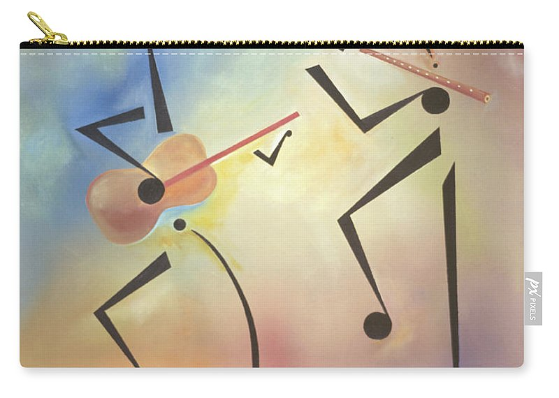 Black Art Carry-all Pouch featuring the painting Flutina by Ikahl Beckford