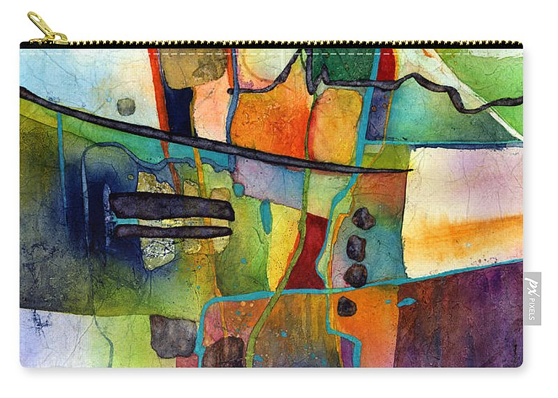 Abstract Carry-all Pouch featuring the painting Fluvial Mosaic by Hailey E Herrera