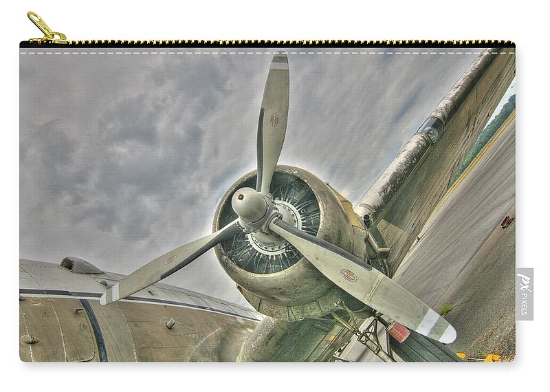 Tiger Lady Carry-all Pouch featuring the photograph Fly Me Away by Patricia Montgomery