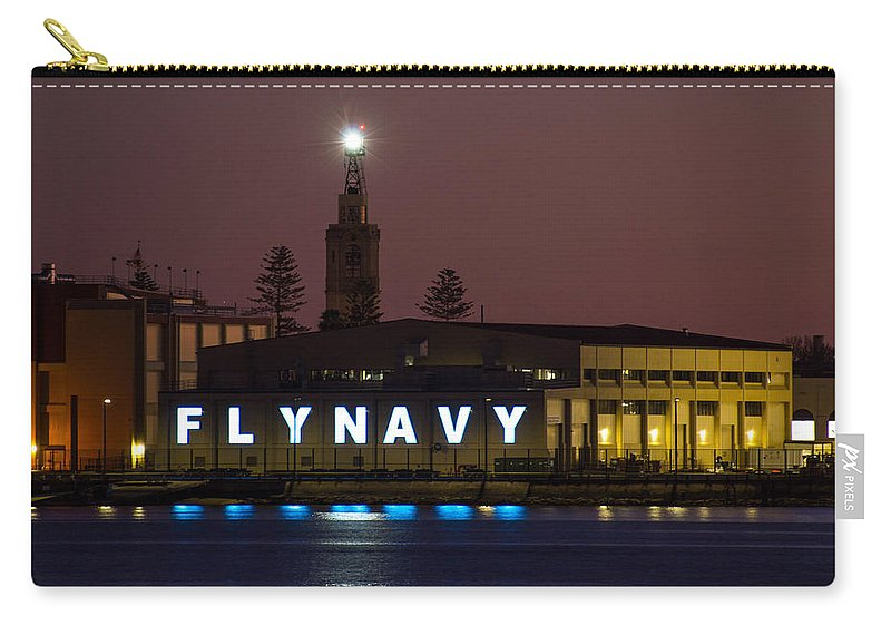 Fly Navy Carry-all Pouch featuring the photograph Fly Navy by Amanda Rimmer