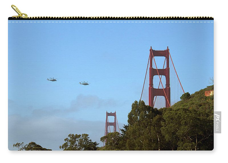Helo Carry-all Pouch featuring the photograph Fly Over by Debby Richards