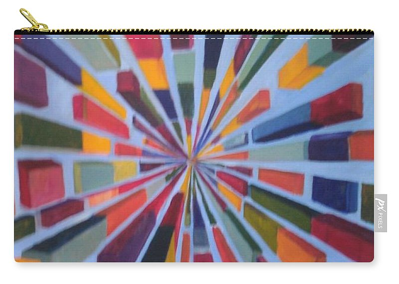 Non Representational Art Carry-all Pouch featuring the painting Flying box by Andrew Johnson