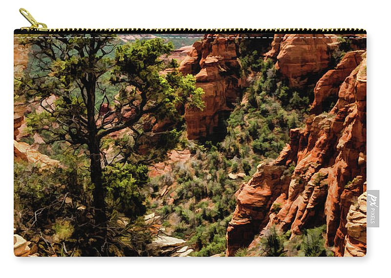 Arizona Carry-all Pouch featuring the photograph Flying Buttress 04-091 by Scott McAllister