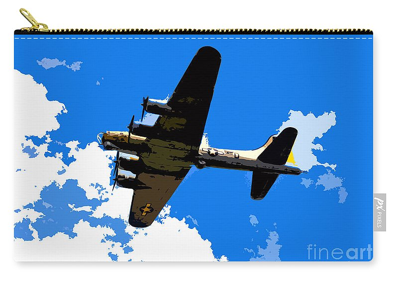 Flying Fortress Carry-all Pouch featuring the photograph Flying Fortress by David Lee Thompson