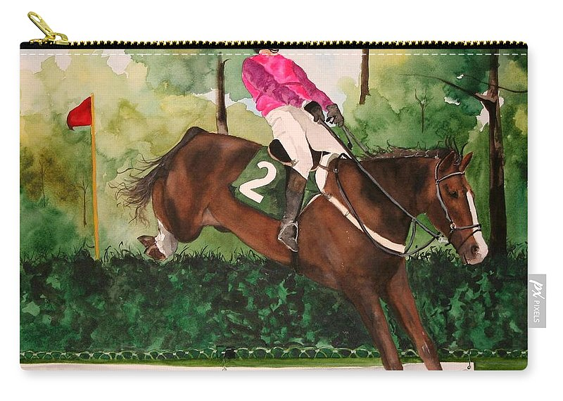 Horse Carry-all Pouch featuring the painting Flying High by Jean Blackmer