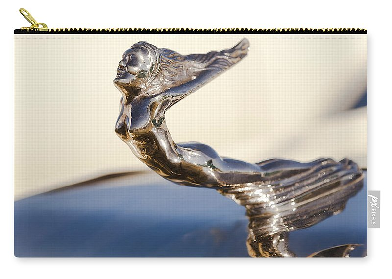 Flying Lady Carry-all Pouch featuring the photograph Flying Lady Hood Ornament by Jill Reger