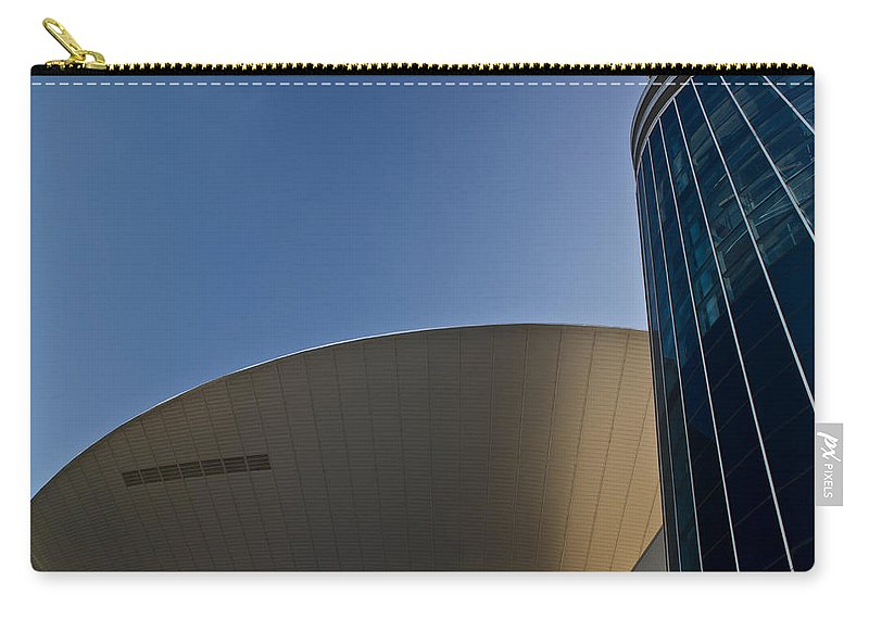 Flying Carry-all Pouch featuring the photograph Flying Sauser by Douglas Barnett
