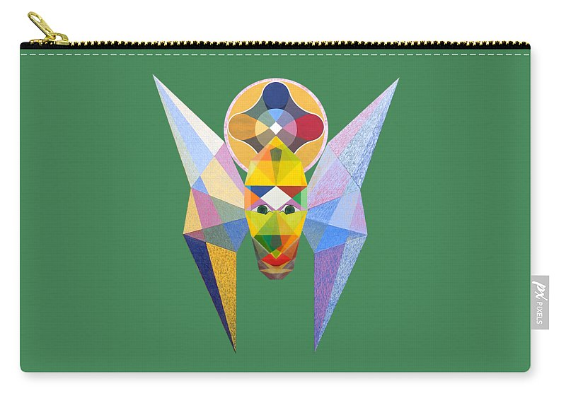 Art Carry-all Pouch featuring the painting Flying Solar Magus by Michael Bellon