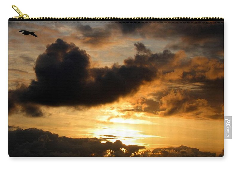 Seagull Carry-all Pouch featuring the photograph Flying Solo by Will Borden