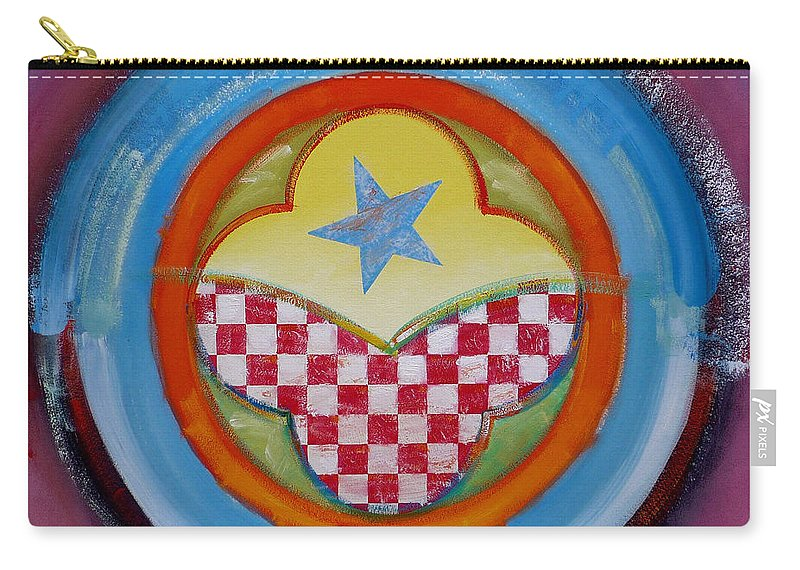 Logo Carry-all Pouch featuring the painting Flying Star by Charles Stuart