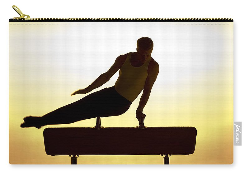 Pommel Horse Carry-all Pouch featuring the photograph Flying Warm by Steve Williams
