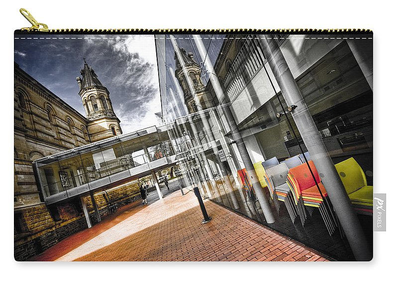 Flyover Carry-all Pouch featuring the photograph Flyover by Wayne Sherriff
