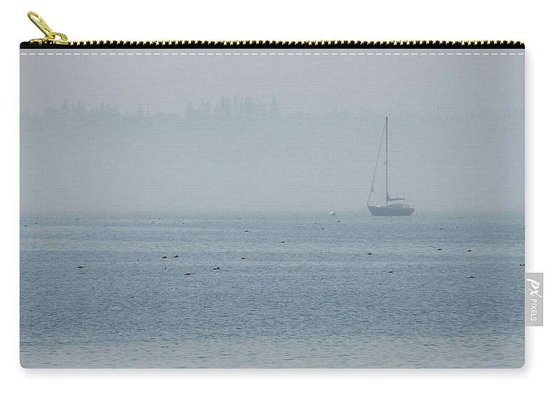 Fog Carry-all Pouch featuring the photograph Fog On Davis Cove by Kelly Mezzapelle