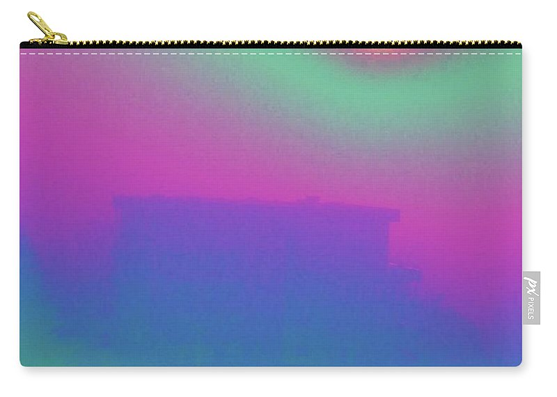 Abstract Carry-all Pouch featuring the digital art Foggy Day by Tim Allen