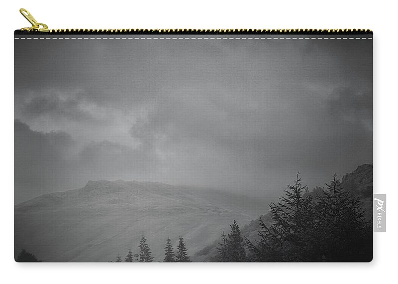 Nature Carry-all Pouch featuring the photograph Foggy Hills by Martin Newman
